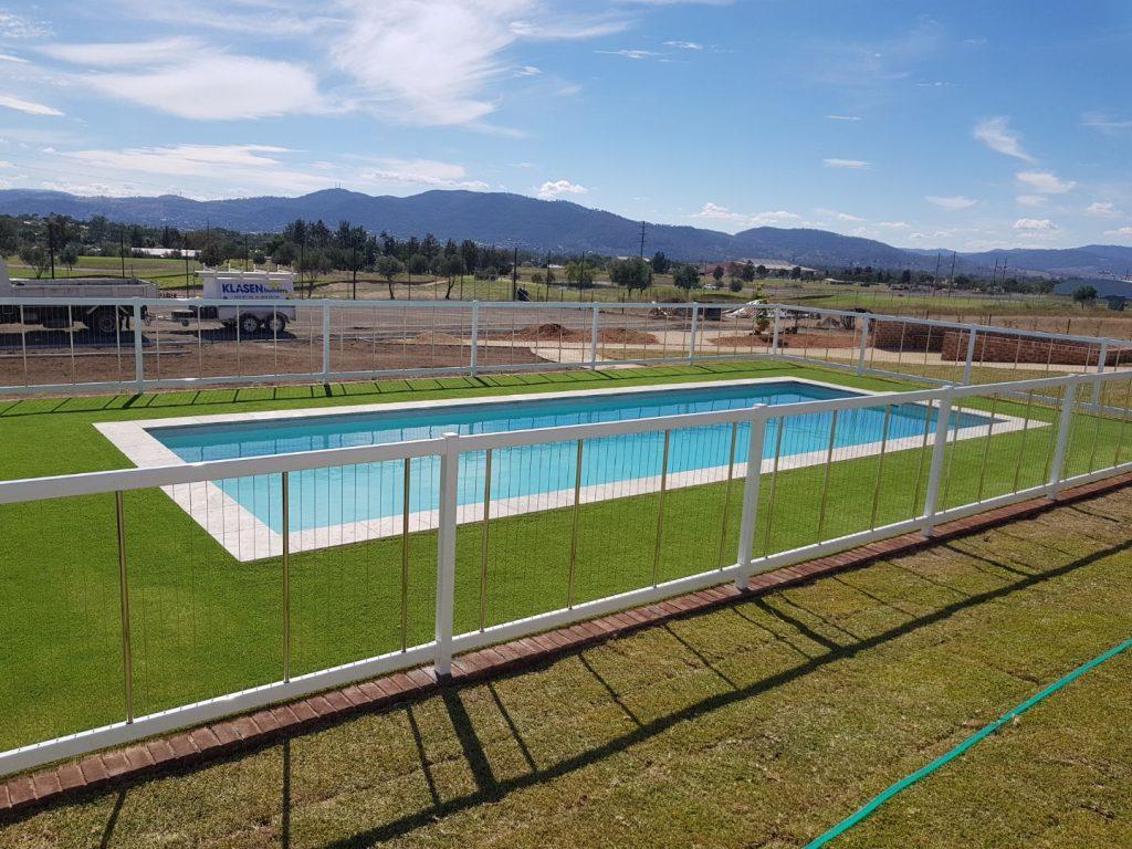 Sentrel Vertical Cable Pool Fencing. Colour: Zeus White