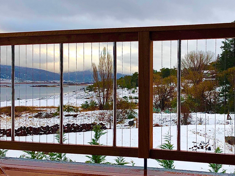 Sentrel Balustrades and Pool Fencing. Snow. Jindabyne